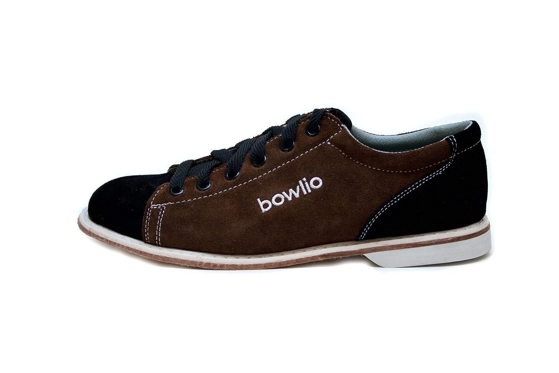 71df907434d3d Bowlio Supreme - Chaussures de Bowling en Cuir de Velours Noir et Brun -  Adulte et Enfant  Amazon.fr  Chaussures et Sacs