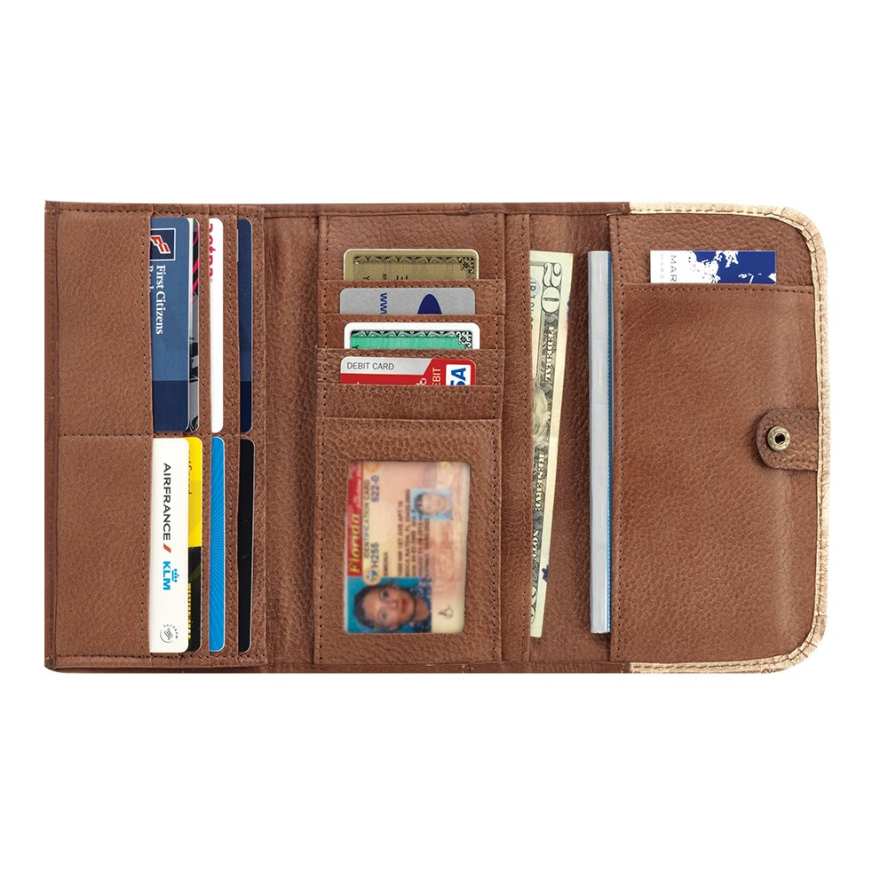 American West Cow Town Tri-Fold Wallet Chocolate Leather