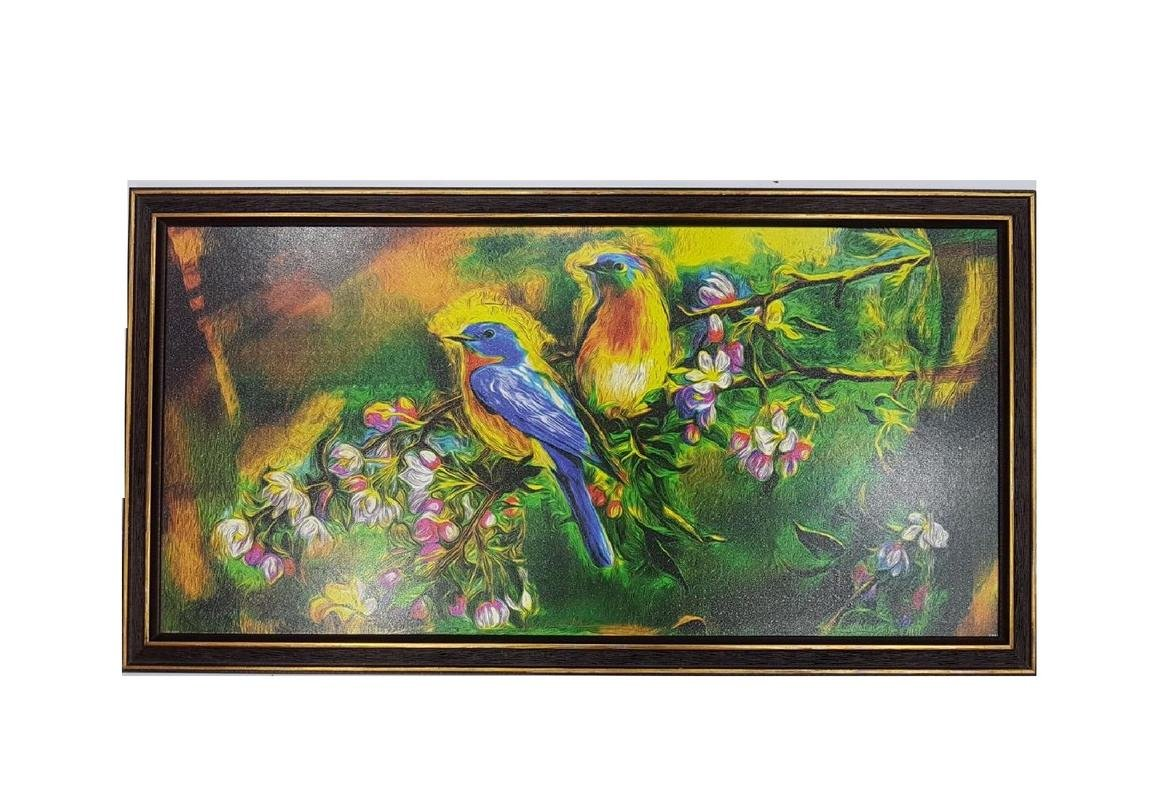 Gupta glass and frames indian art synthetic beautifull love birds gift for home uv textured decorative print framed art print painting amazon in home