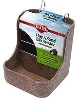 Kaytee Hay n Food Bin Feeder with Quick Locks (Colors May Vary)