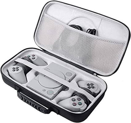 Zaracle Portable Storage Bag Carrying Case Cover Protect Pouch Bag Travelling Case for Sony PlayStation Classic Console Hard Case For PS PlayStation Mini Console