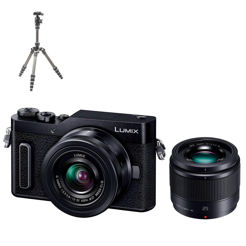 パナソニック ミラーレス一眼カメラ ルミックス GF90 ダブルレンズキット ブラック DC-GF90W-K + Amazonベーシック トラベル三脚 130cm 5段 セット   B07C3YF7NX