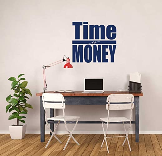Business Wall Decals - Time is Money Quote Vinyl Wall Decor - Motivational Saying for Business & Amazon.com: Business Wall Decals - Time is Money Quote Vinyl Wall ...