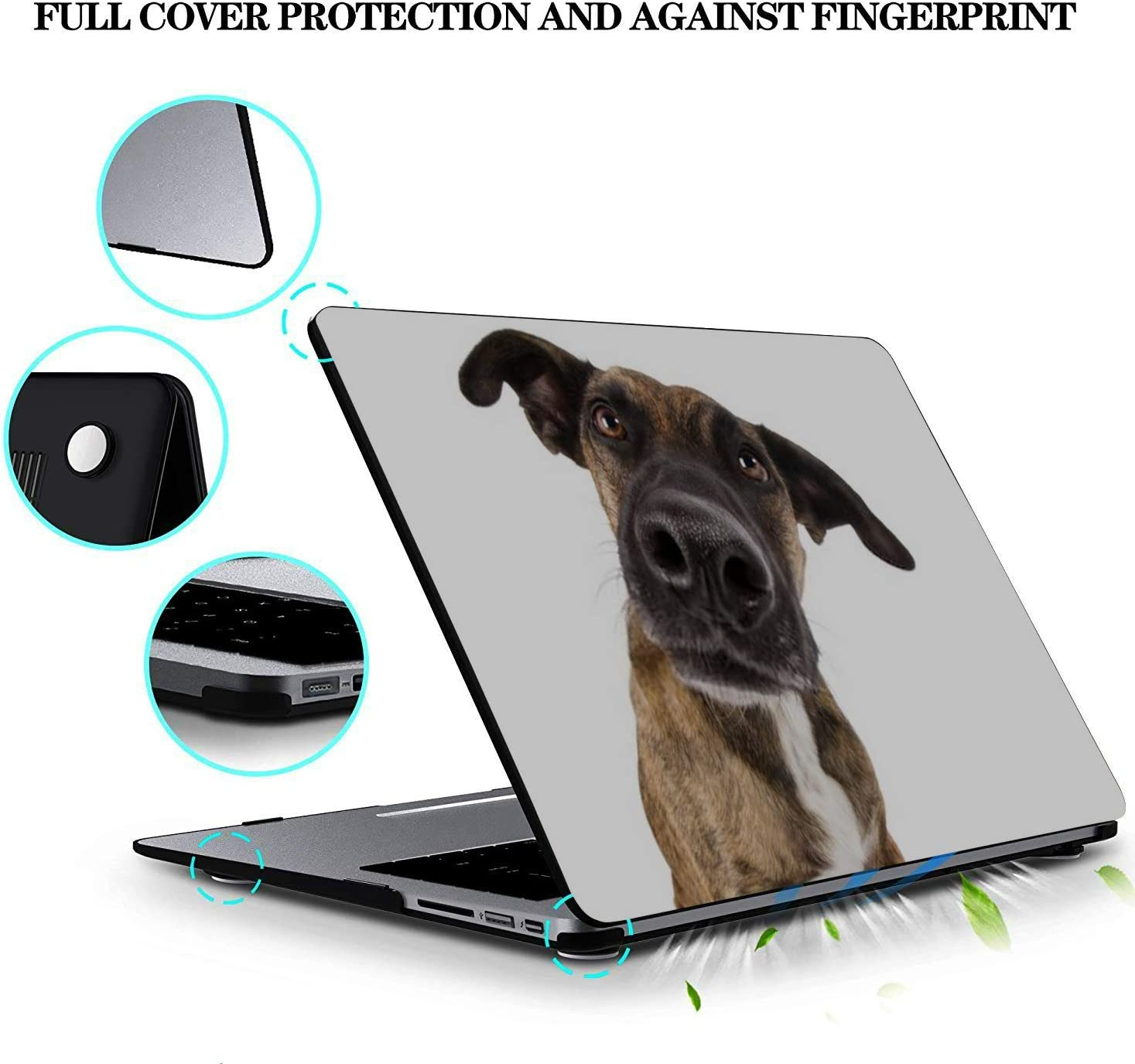 MacBook Pro Case Staffordshire Terrier Dog Mixed Head Big MacBook Air 11 //A1370//A1465Plastic Case Keyboard Cover /& Screen Protector /& Keyboard Clean