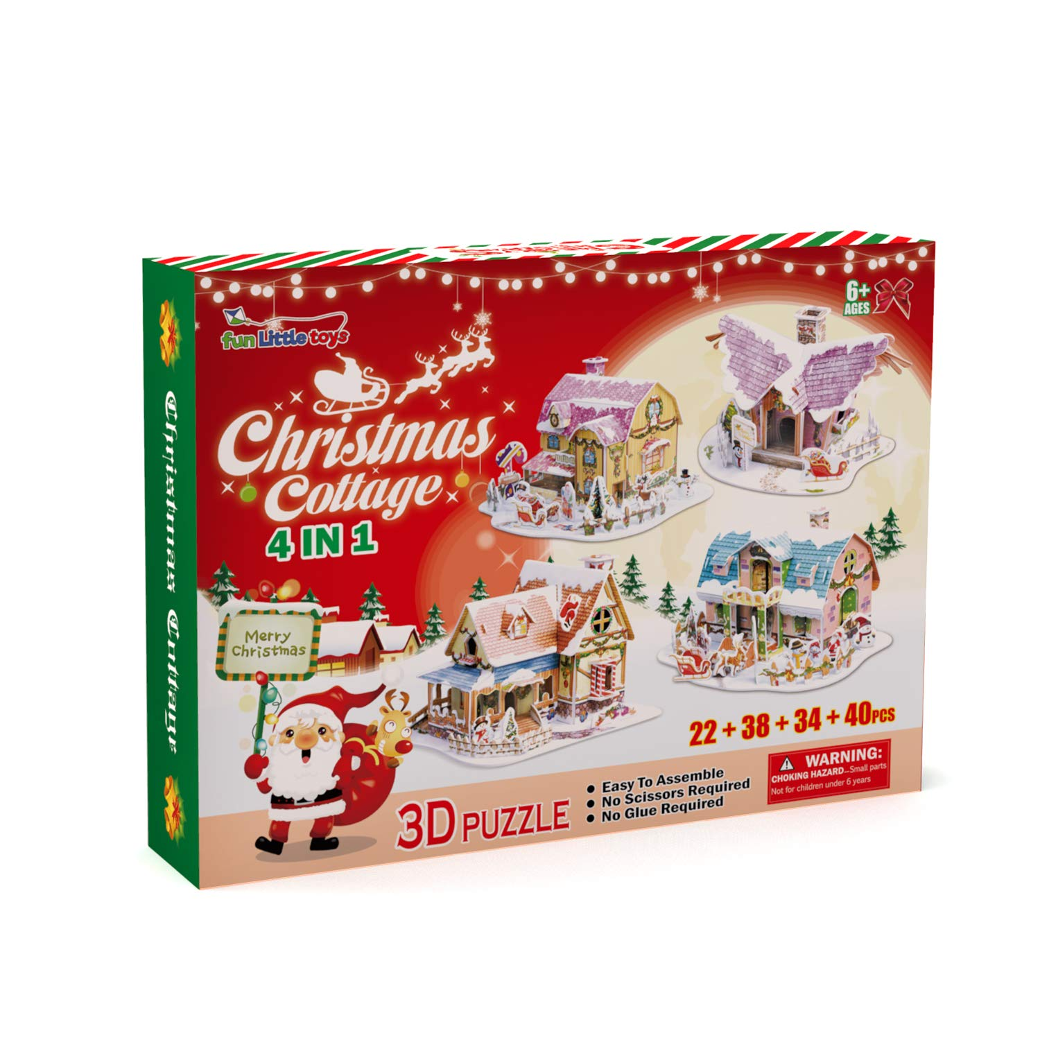 Amazon Christmas Decorations 3D Puzzles for Kids in 4 Styles