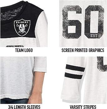 ef2ad53e NFL Buffalo Bills Women's Vintage 3/4 Long Sleeve Tee Shirt, White, Medium