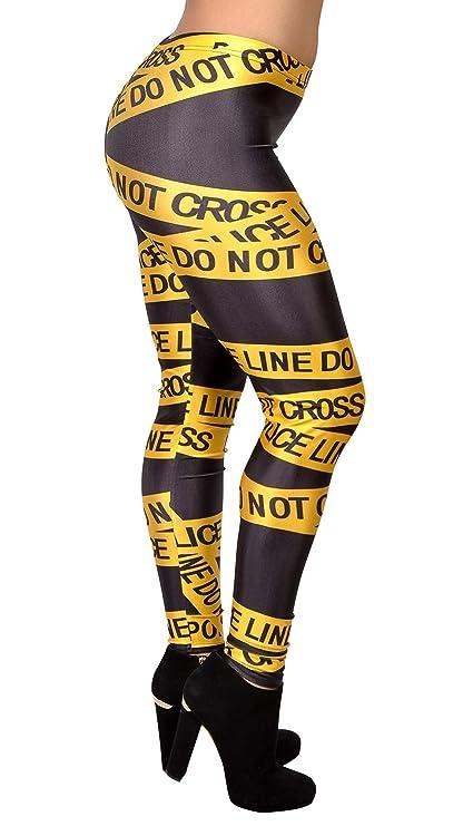 Amazon.com: badassleggings Policía de mujeres Line Leggings ...