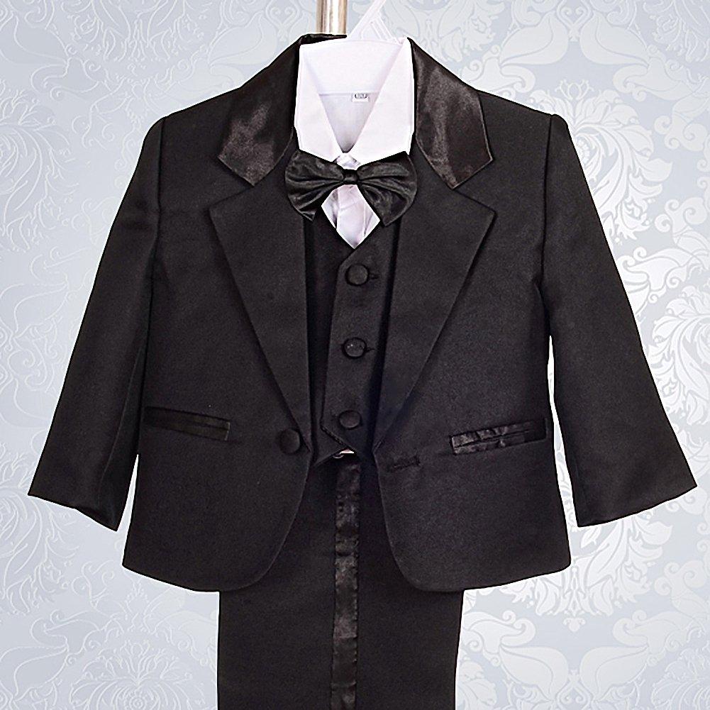 a63792a9a Amazon.com  Dressy Daisy Baby Boy  5 Pcs Set Formal Tuxedo Suits No ...