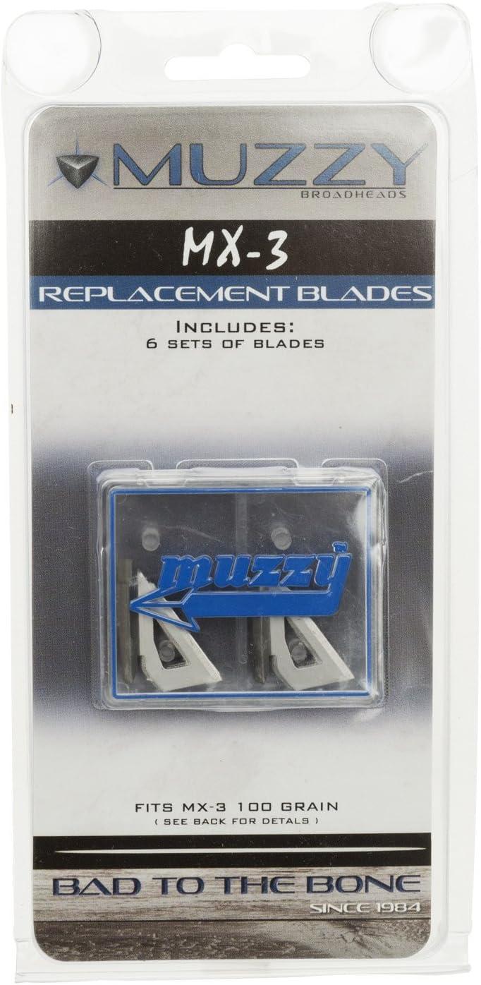 MUZZY BROADHEADS 100 grain 3 blade NEW IN SEALED PAK FREE SHIP! 3 Pack