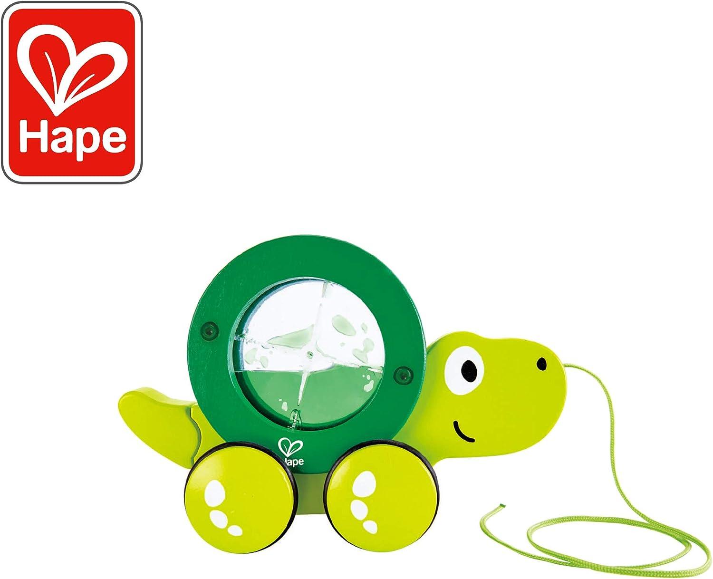 gr/ün Krokodil Croc Hape E0348 ab 12 Monaten Nachziehspielzeug aus Holz