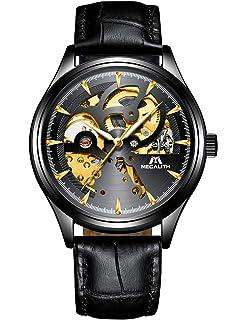 Relojes Hombre Reloj Automatico de Hombre Mecanicos Militar Deportes Impermeable Esqueleto…
