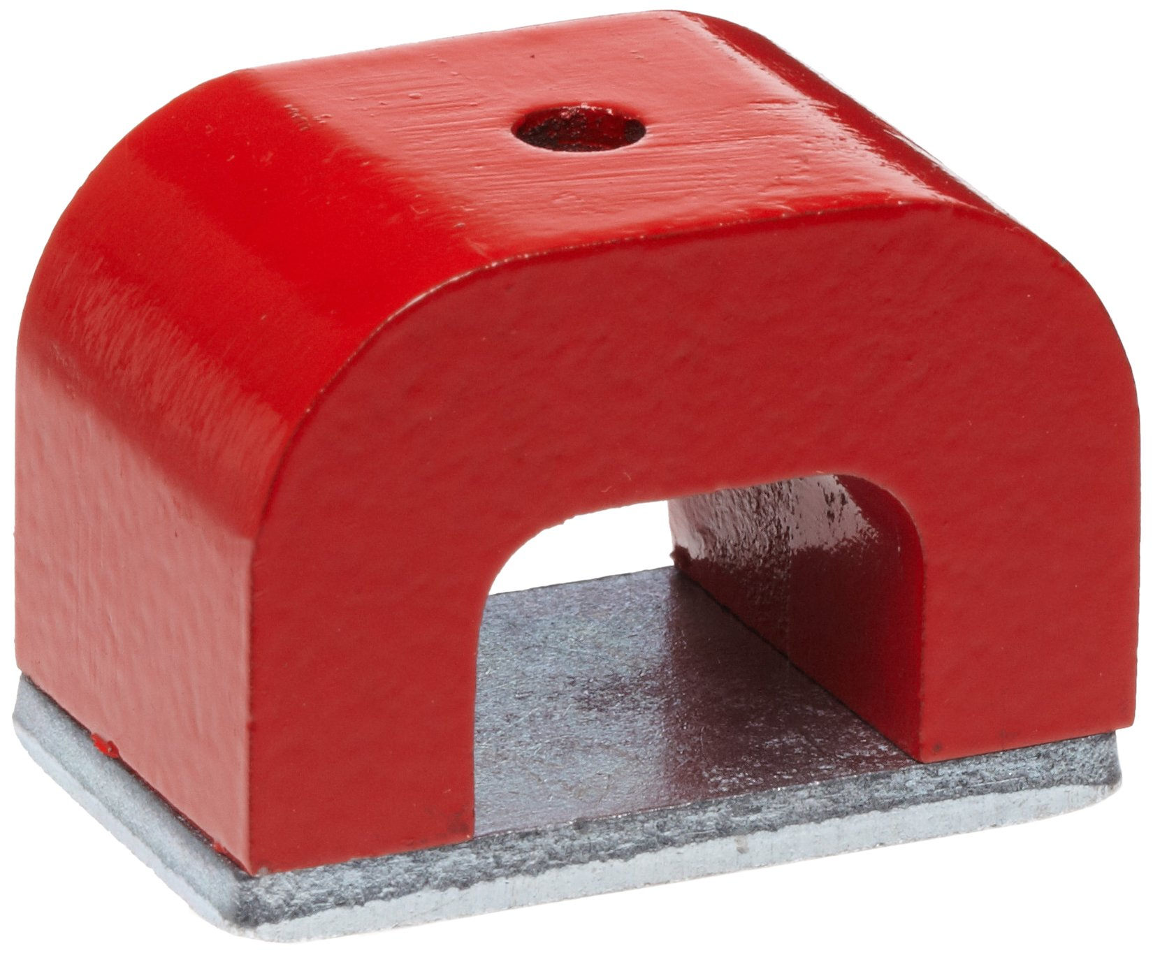Red Cast Alnico 5 Bridge Magnet With Keeper, 1.57'' Wide, 1'' High, 1'' Thick, 0.20'' Hole On Top (Pack of 1)