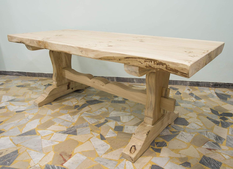 Ebanisteria Gambella - Mesa de comedor rústica: Amazon.es: Handmade