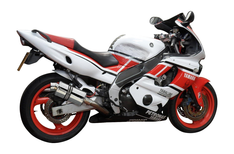 "Yamaha YZF600R Thundercat 9/"" Stainless Oval Muffler Exhaust 95-02 03 04 05 06 07"