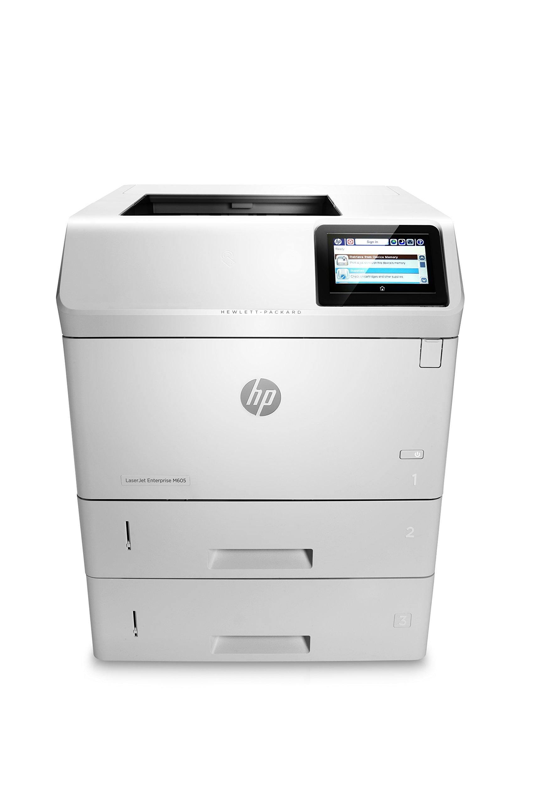 HP Monochrome LaserJet Enterprise M605x Printer w/ HP FutureSmart Firmware, (E6B71A#BGJ) by HP
