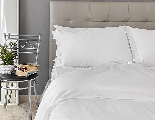 Provence - Sábana bajera ajustable de algodón egipcio de 500 hilos, 135 x 200 cm, color blanco, ropa de cama fabricada en Portugal: Amazon.es: Hogar
