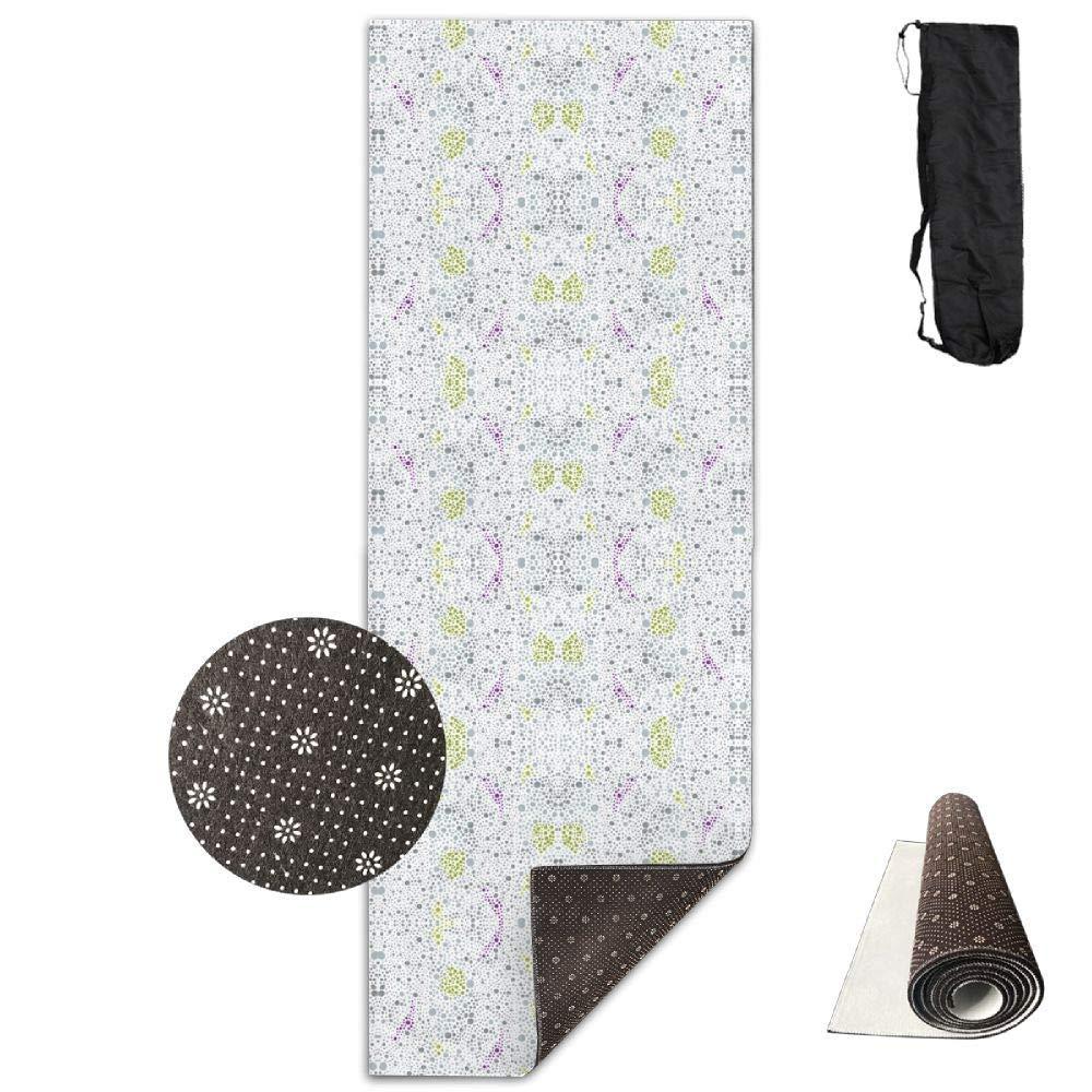 70Inch Long 28Inch Wide Comfort Velvet Yoga Mat, Dot Space Dot Fabric (5205) Mat Carrying Strap & Bag