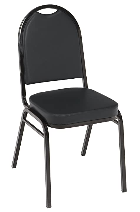 KFI Seating IM520 Armless Stacking Chair, Commercial Grade, 2 Inch, Black  Vinyl