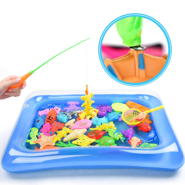30 St/ück Angeln Spielzeug Badespa/ß f/ür Kinder YHmall Badespielzeug Magnetisches Schwebendes Spielzeug f/ür Badewanne Bad Strand Pool Sand