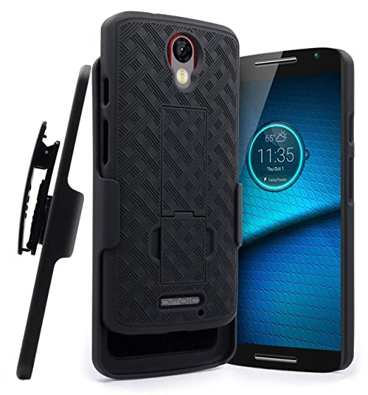 Motorola Turbo 2 Case, Belt Clip Holster Combo Cell Phone Case With Kick Stand Swivel