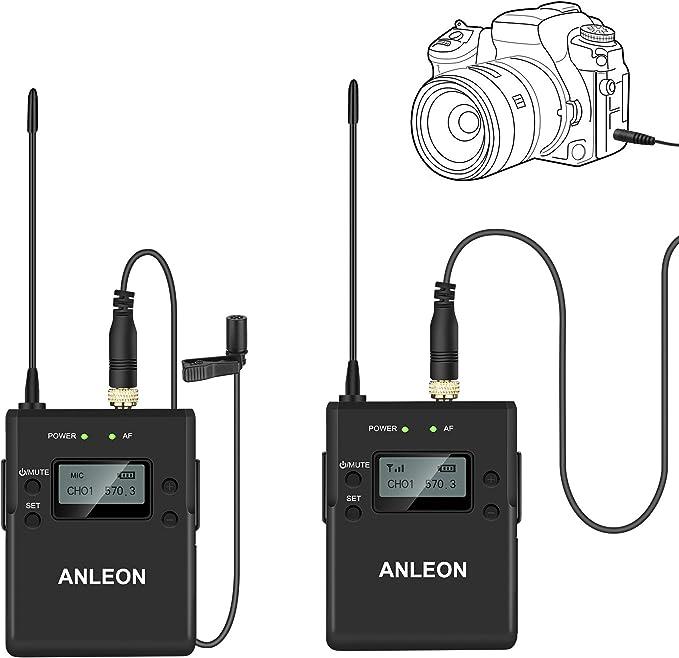 ANLEON P1/C - Micrófono inalámbrico para cámaras réflex Digitales ...
