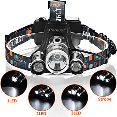 Linterna Frontal LED T6 GRDE luz de Bicicleta Linterna Cabeza ...