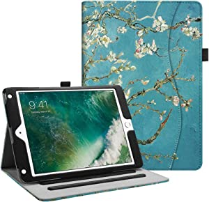 Fintie Case for iPad 9.7 2018 2017 / iPad Air 2 / iPad Air - [Corner Protection] Multi-Angle Viewing Folio Cover w/Pocket, Auto Wake/Sleep for iPad 6th / 5th Gen, iPad Air 1/2, Blossom