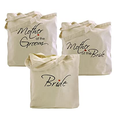 elegantpark bridemother of bridegroom tote bags set for wedding bridal