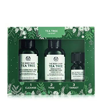 Christmas Gift Sets Body Shop.The Body Shop Tea Tree Skin Clearing Essentials Gift Set 3pc Paraben Free Skin Care Set For Blemish Prone Skin