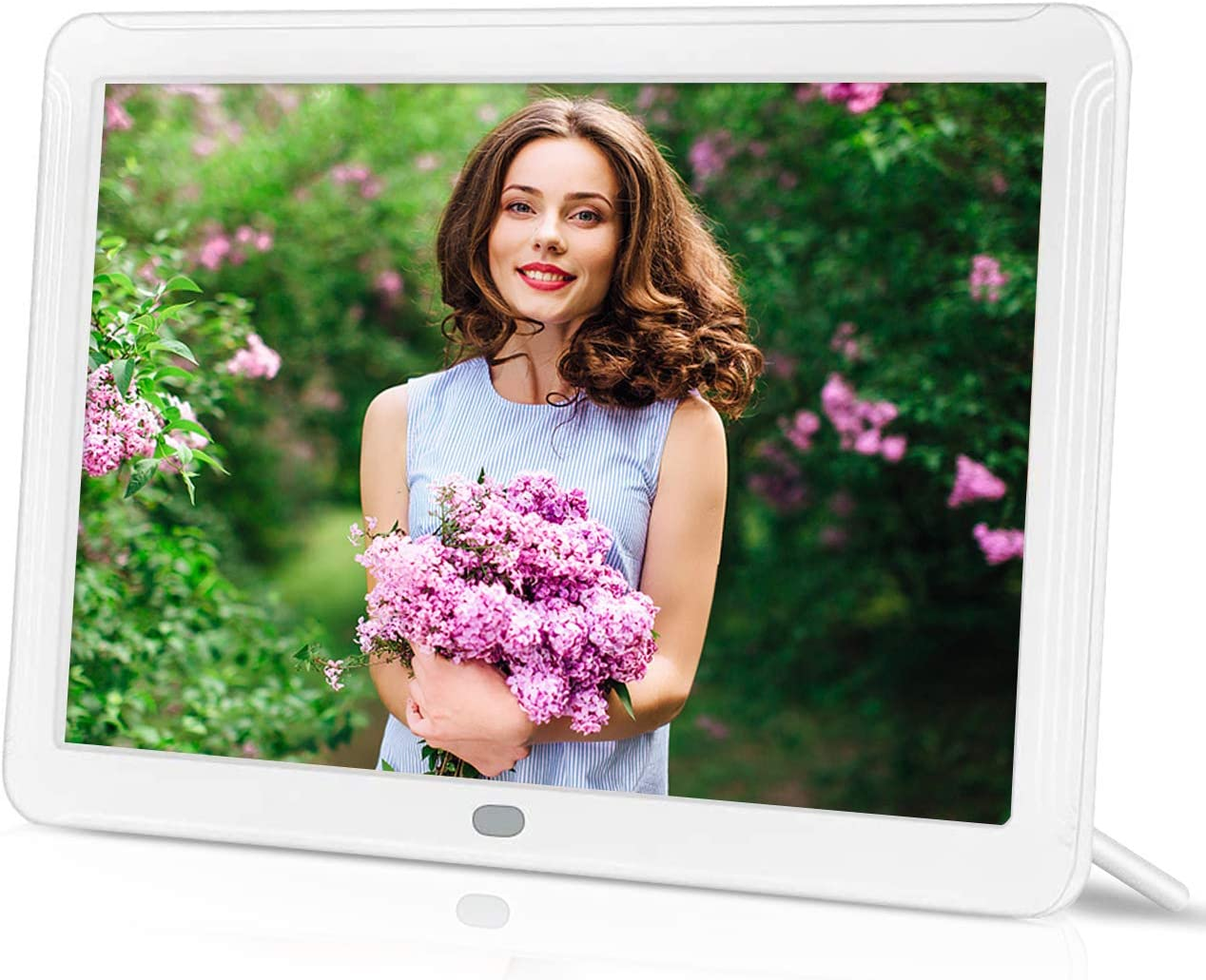 IEBRT Digital Photo Frame 8-Inch High-Definition Digital Picture Frame 1920×1080 IPS Screen Brightness Adjustable Photo Deletion Automatic Rotation Motion Sensor 16 9 Widescreen