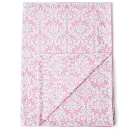 "Kids N' Such Minky Baby Blanket 30"" X 40""   Pink Damask   Soft Swaddle Blanket For Newborns And Toddlers   Best For Girls Crib Bedding, Nursery, And Security   Plush Double Layer Fleece Fabric by Kids N' Such"