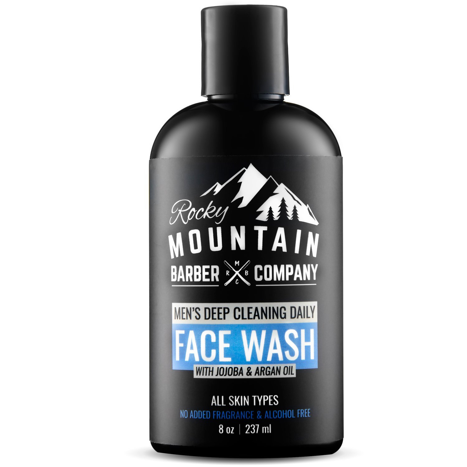 Face Wash For Men, Hydrating for Dry and Oily Skin with Natural Non-Irritating Sensitive Formula, Unscented for All Skin Types, Paraben & SLS Free