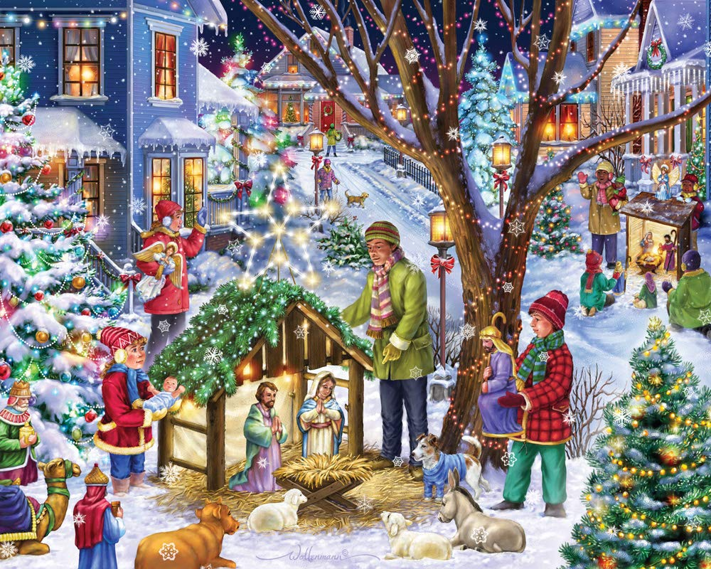 Neighborhood Nativity Jigsaw Puzzle 1000 Piece