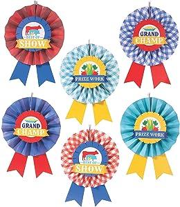 County Fair Hanging Fans - Party Decor - 12 Pieces