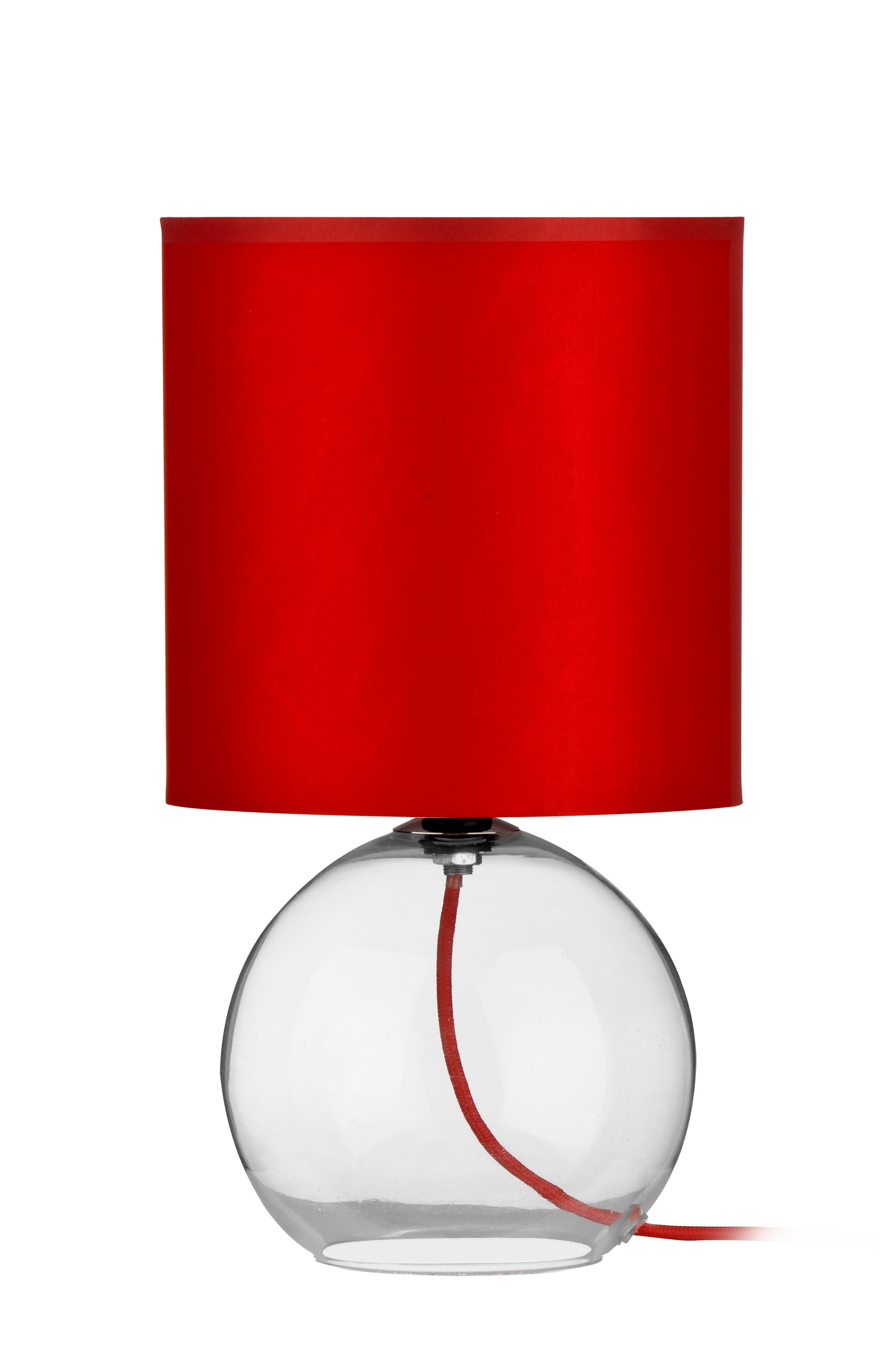 Red table lamps for living room amazon premier housewares glass table lamp red aloadofball Gallery