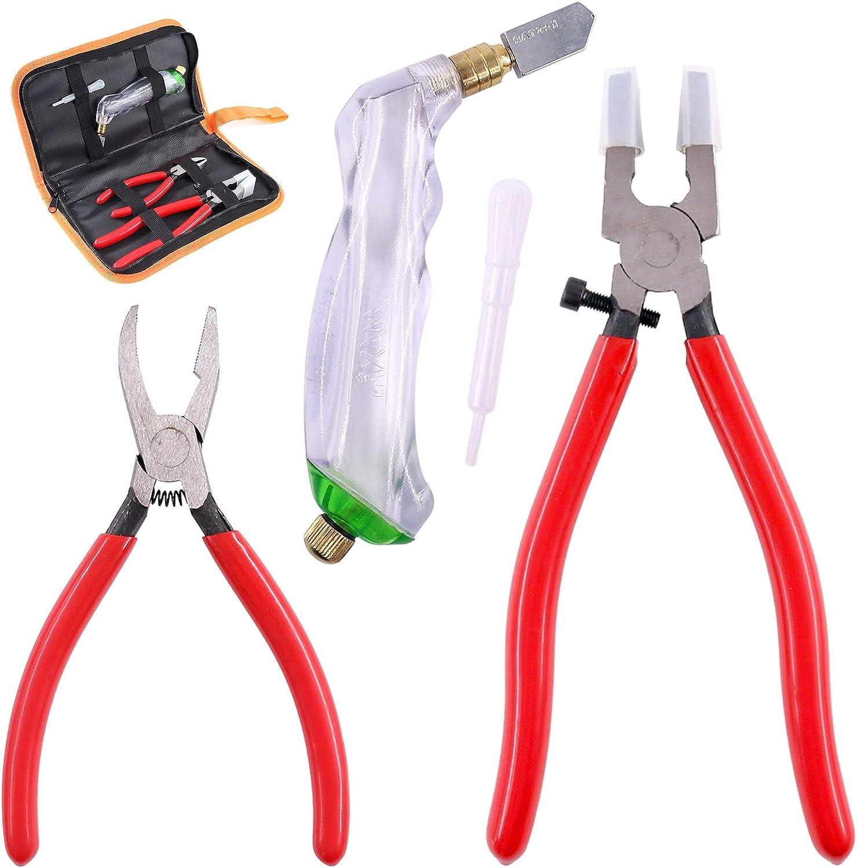 Swpeet 3Pcs Heavy Duty Glass Cutter Kit
