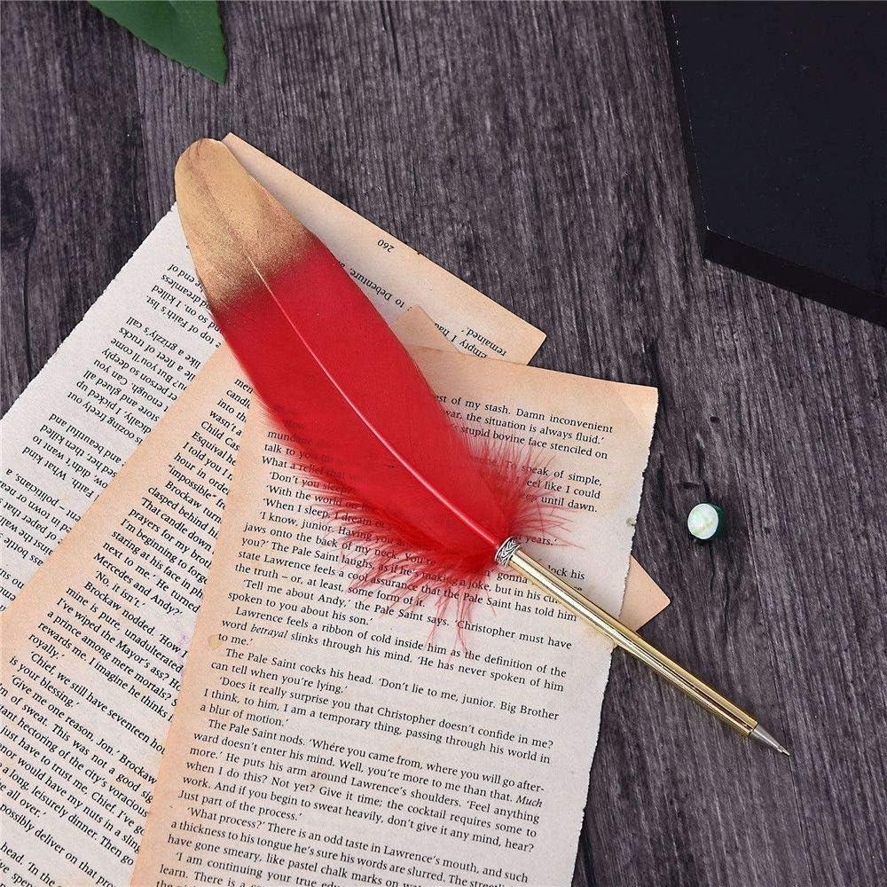 LAVALINK Accessori per la casa Roller 1pc Piuma Verde Penna a Sfera dEpoca Penna a Sfera di Kawaii Festa di Nozze Penne Ufficio Scolastico