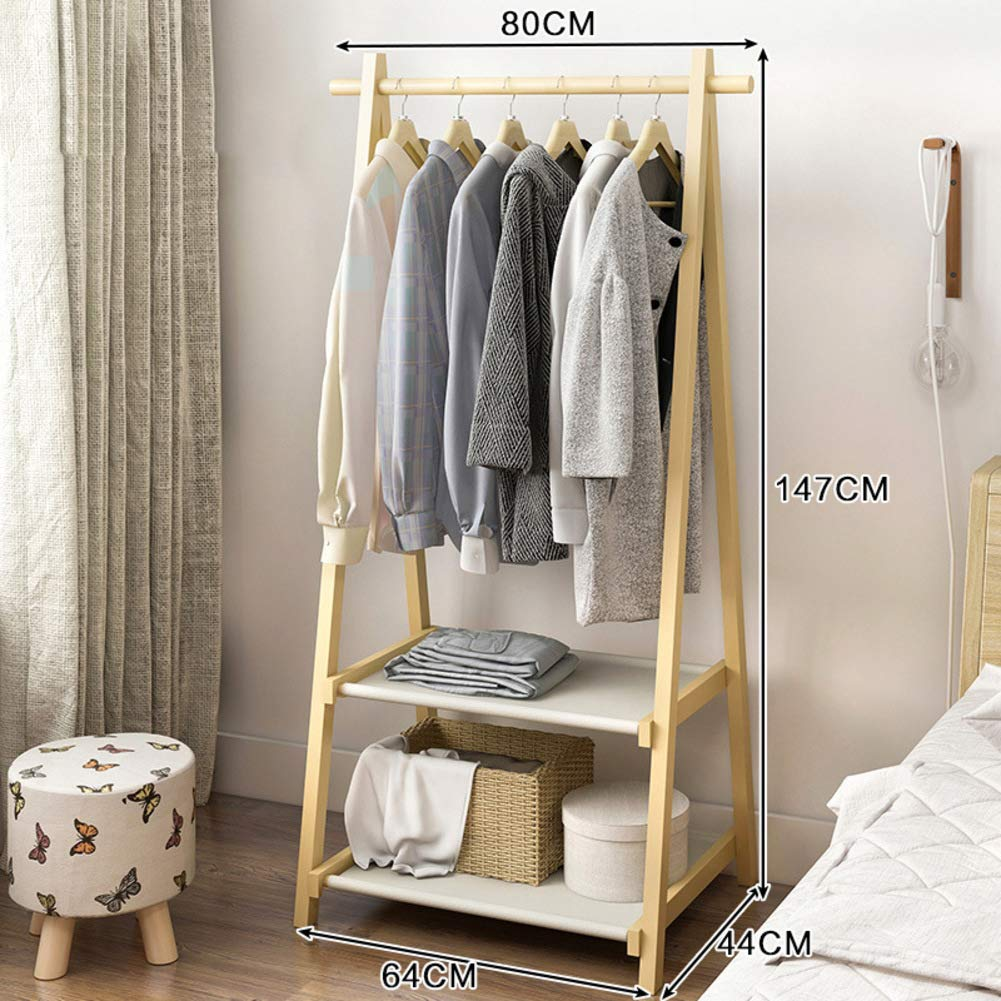 J 64x44x147cm(25x17x58inch) Bamboo Clothes Rack,Triangle Wooden Free Standing Coat Rack,Tree Stand Holder for entryway and Bed Room Patented Design-D 64x44x149cm(25x17x59inch)
