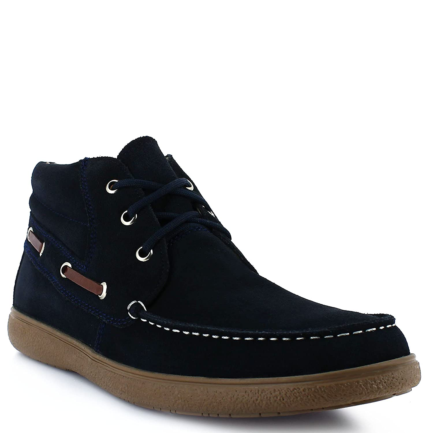 Armys casual loafer navy blue in suede material.