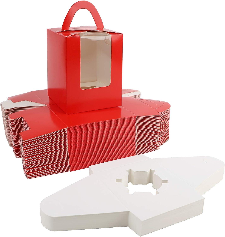 Cupcake Containers, EUSOAR 50pcs 3.6