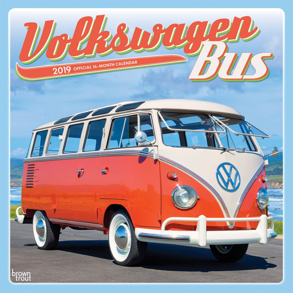 Volkswagen Bus 2019 12 x 12 Inch Monthly Square Wall Calendar, German Motor Car (Multilingual Edition) (Multilingual) Calendar – Wall Calendar, June 1, 2018 Inc. BrownTrout Publishers 1465075348 General Reference