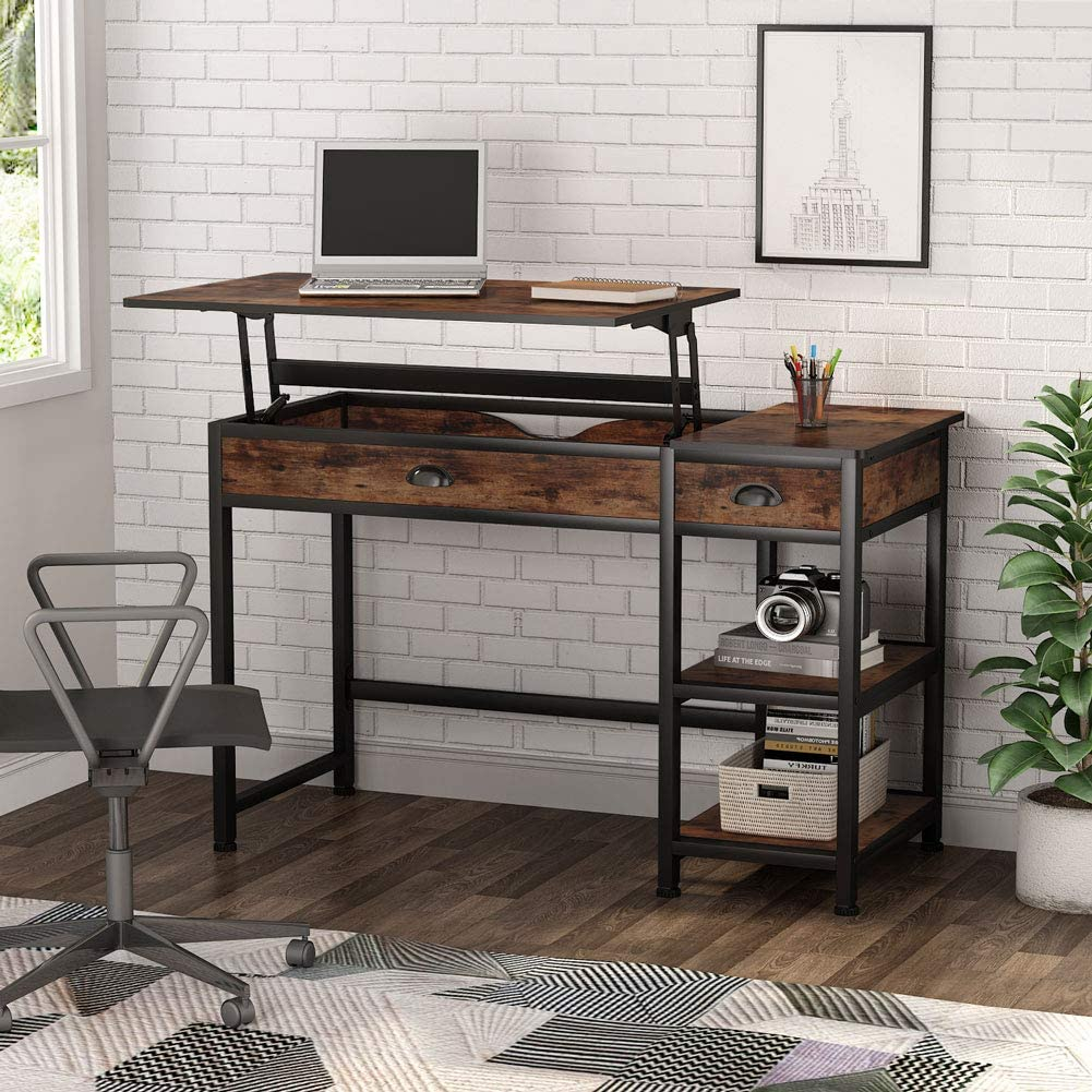 Tribesigns Industria Lift Top Computer Desk