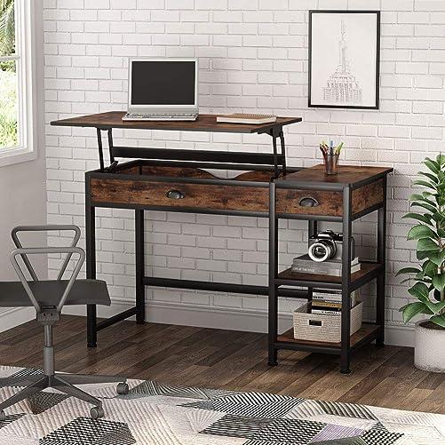 Tribesigns Industria Lift Top Computer Desk