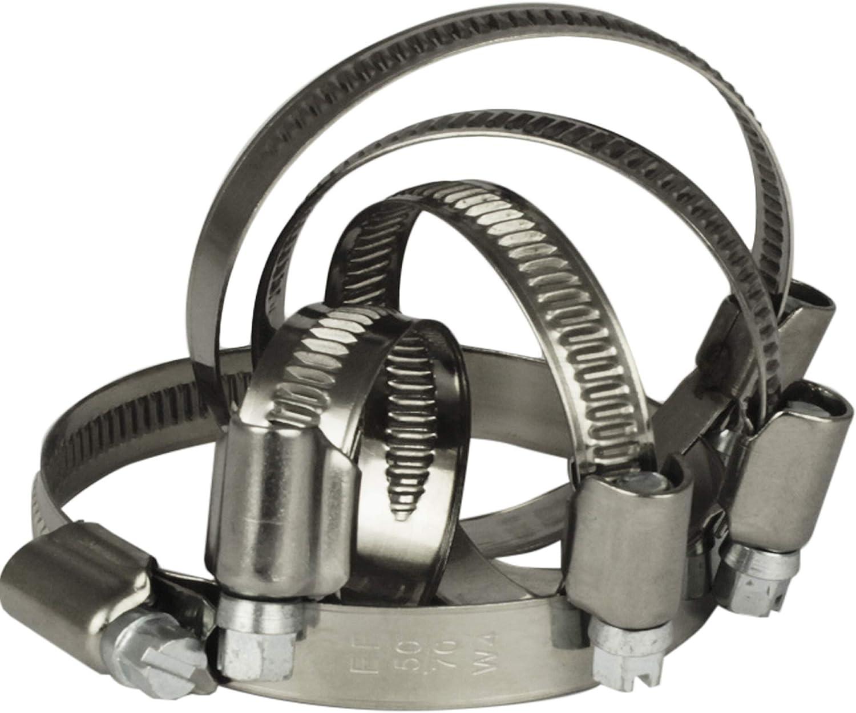 NietFullThings Schlauchschellen mit Schneckenantrieb aus Edelstahl Spannbereich /Ø 10-260-mm Bandbreite 9-12-mm Rostfrei Schlauch-Binder Schlauch-Klemmen Schraub-Schellen Bandschelle DIN-3017