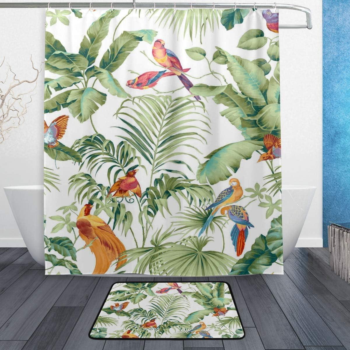 Amazon.com: LORVIES Jungle Canopy Spring Bathroom Set, Polyester