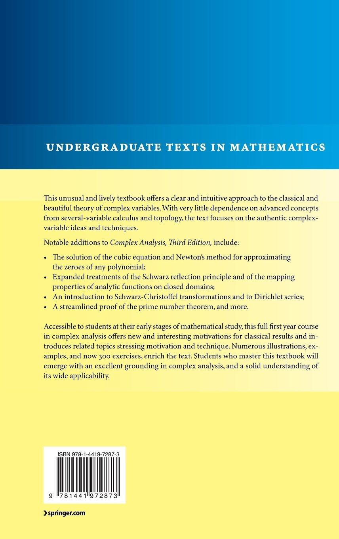 Complex Analysis (Undergraduate Texts in Mathematics): Amazon.co.uk: Joseph  Bak, Donald J. Newman: 9781441972873: Books
