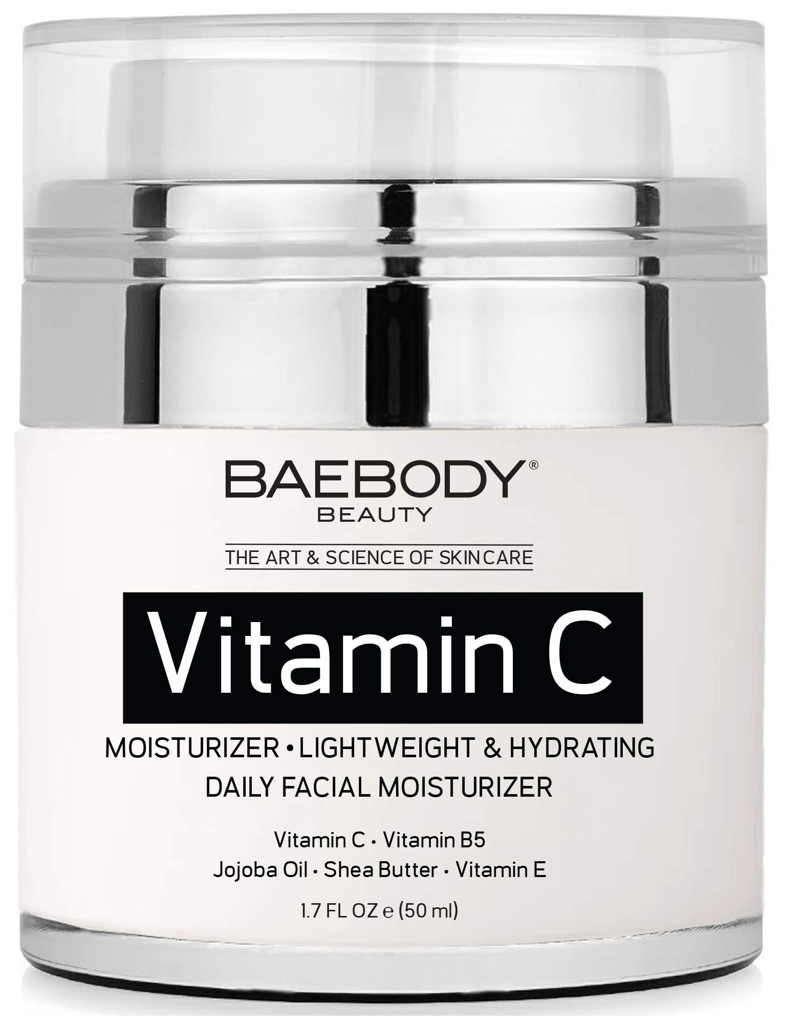 Baebody Vitamin C Moisturizer Cream with Vitamin C, Jojoba Oil & Vitamin E, 1.7 Ounces