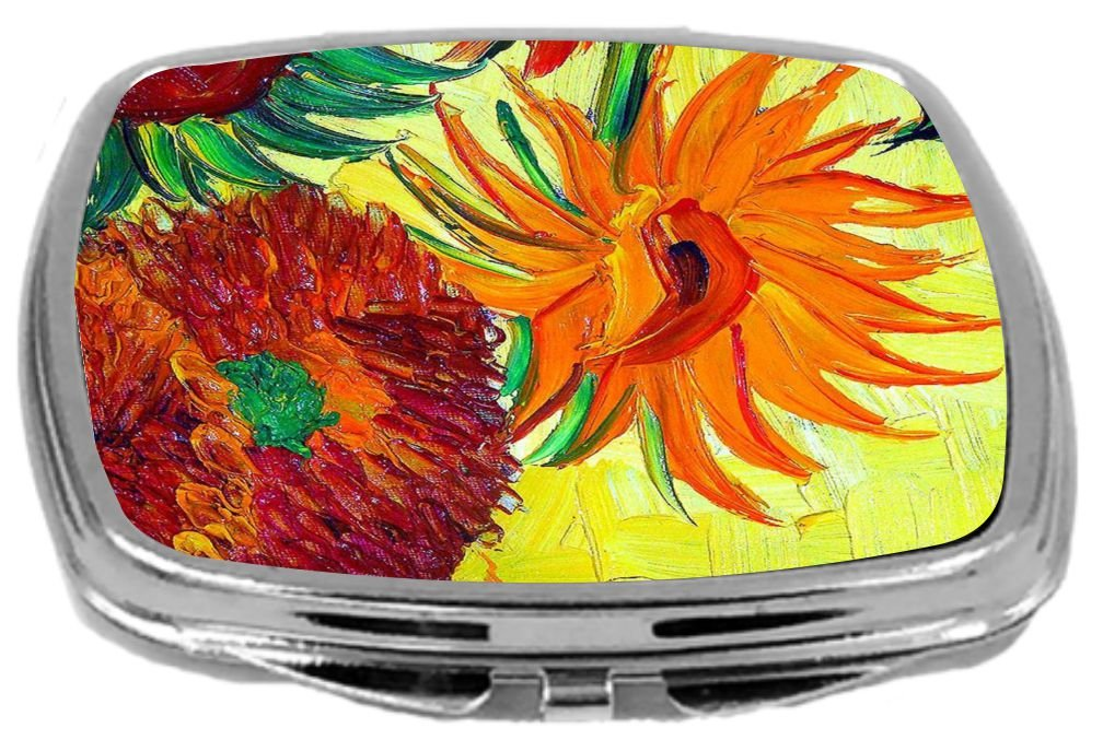 Rikki Knight Compact Mirror, Van Gogh Sunflowers
