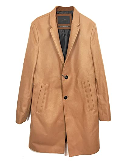 e0d8e862 Zara Men's Lapel Collar Coat 0706/380 Brown: Amazon.co.uk: Clothing