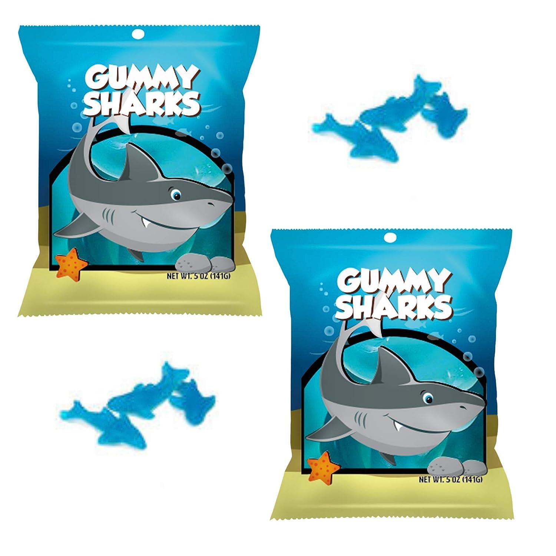 Shark Gummies | Gummy Sharks Candy | 5oz Shark Gummies Candy individual packs | 2 Pack Bundle by CoolGadgetGift